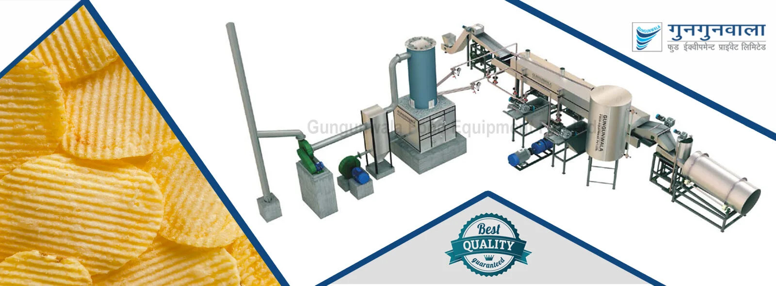 Fully Automatic Potato Chips Production Line Manufacturer India