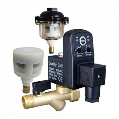 Electronic Auto Drain valve manufacturers in Coimbatore | India - kisnapneumatics.com